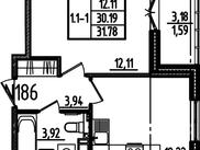 Купить однокомнатную квартиру по адресу Санкт-Петербург