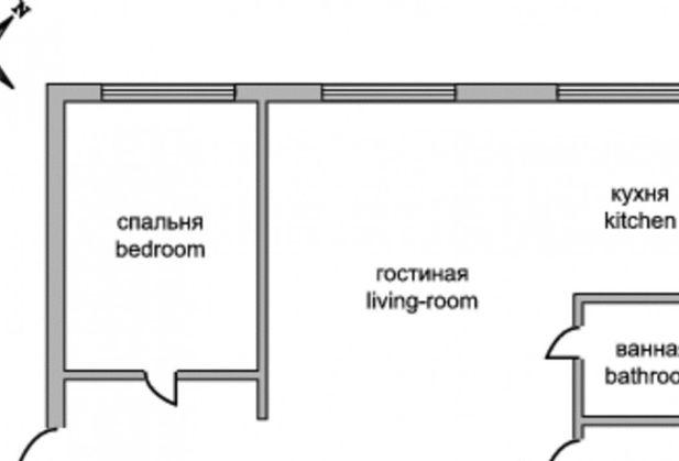 Купить двухкомнатную квартиру по адресу Москва, проспект Мира, дом 188Бк4