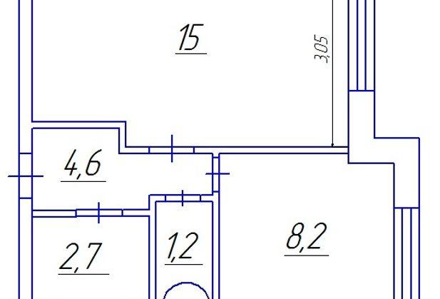 Купить однокомнатную квартиру по адресу Санкт-Петербург, Заводская (Усть-Славянка), дом 15